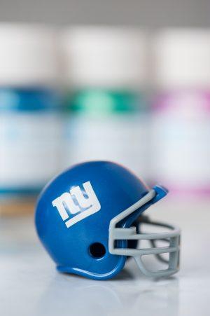 DIY Glitter Football Helmets by @cydconverse