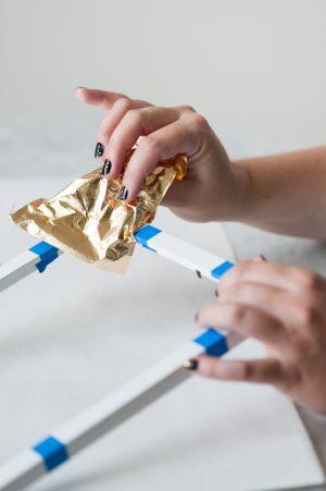 DIY Gold Leaf Frame by @cydconverse