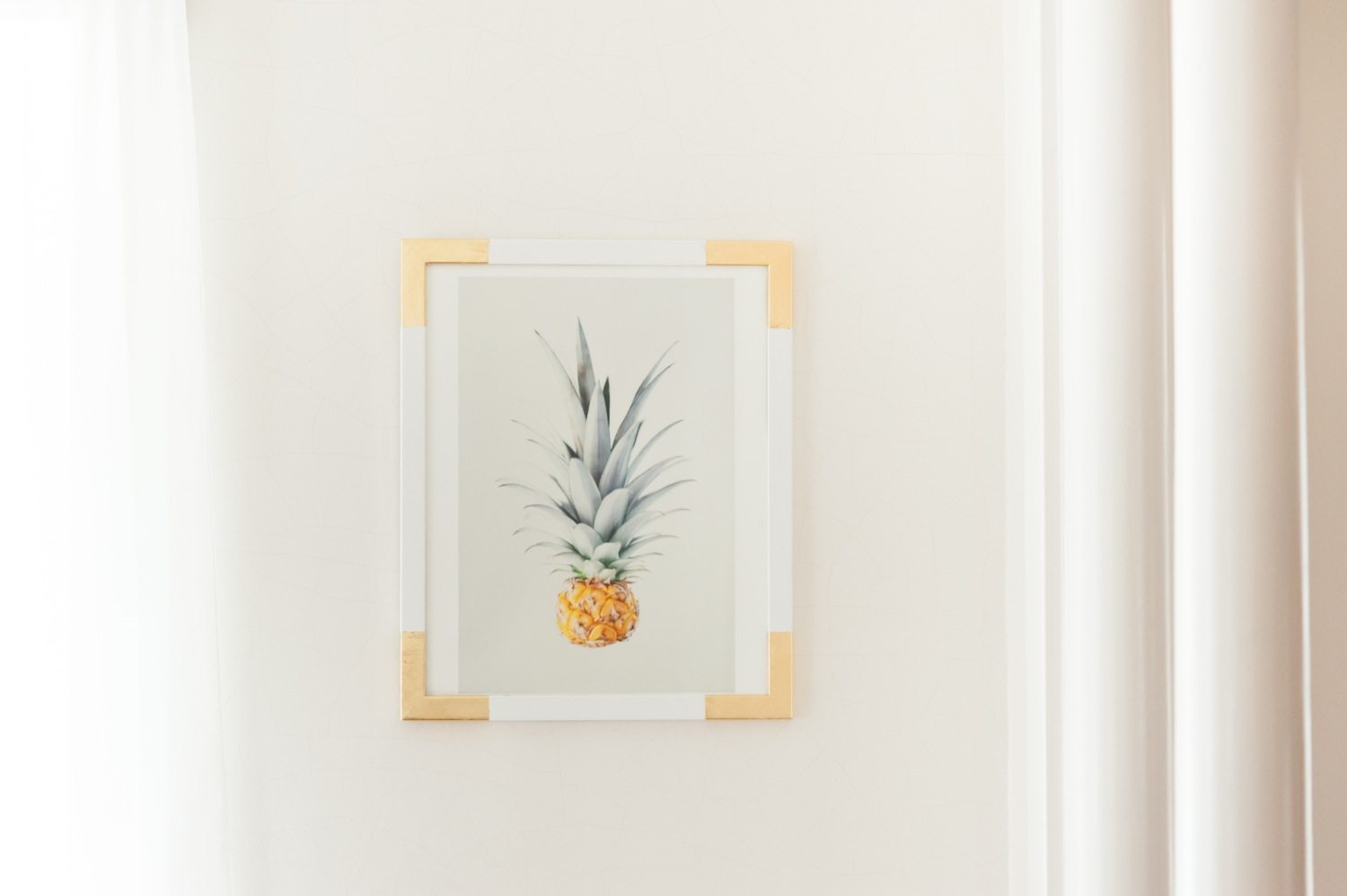 DIY Gold Leaf Frame - The Sweetest Occasion