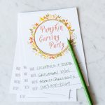 Pumpkin Carving Party Printables