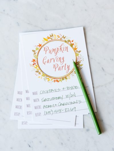 Pumpkin Carving Party Printables thumbnail