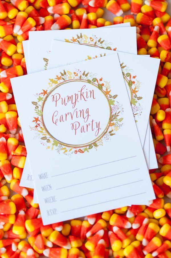 Pumpkin Carving Party Printables by @cydconverse