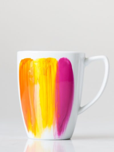 DIY Abstract Brushstroke Mug thumbnail