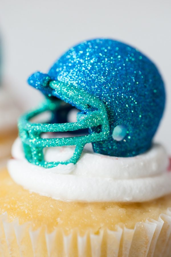 DIY Glitter Football Helmets by @cydconverse