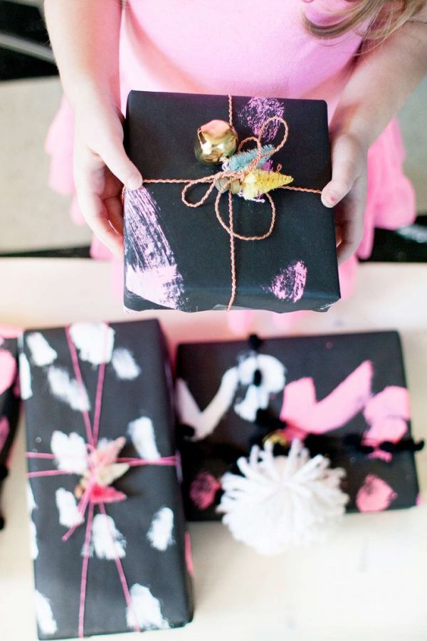 DIY Hand Painted Wrapping Paper