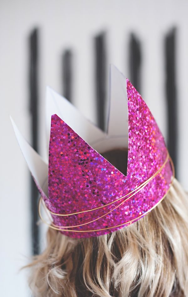 DIY Glitter Crowns
