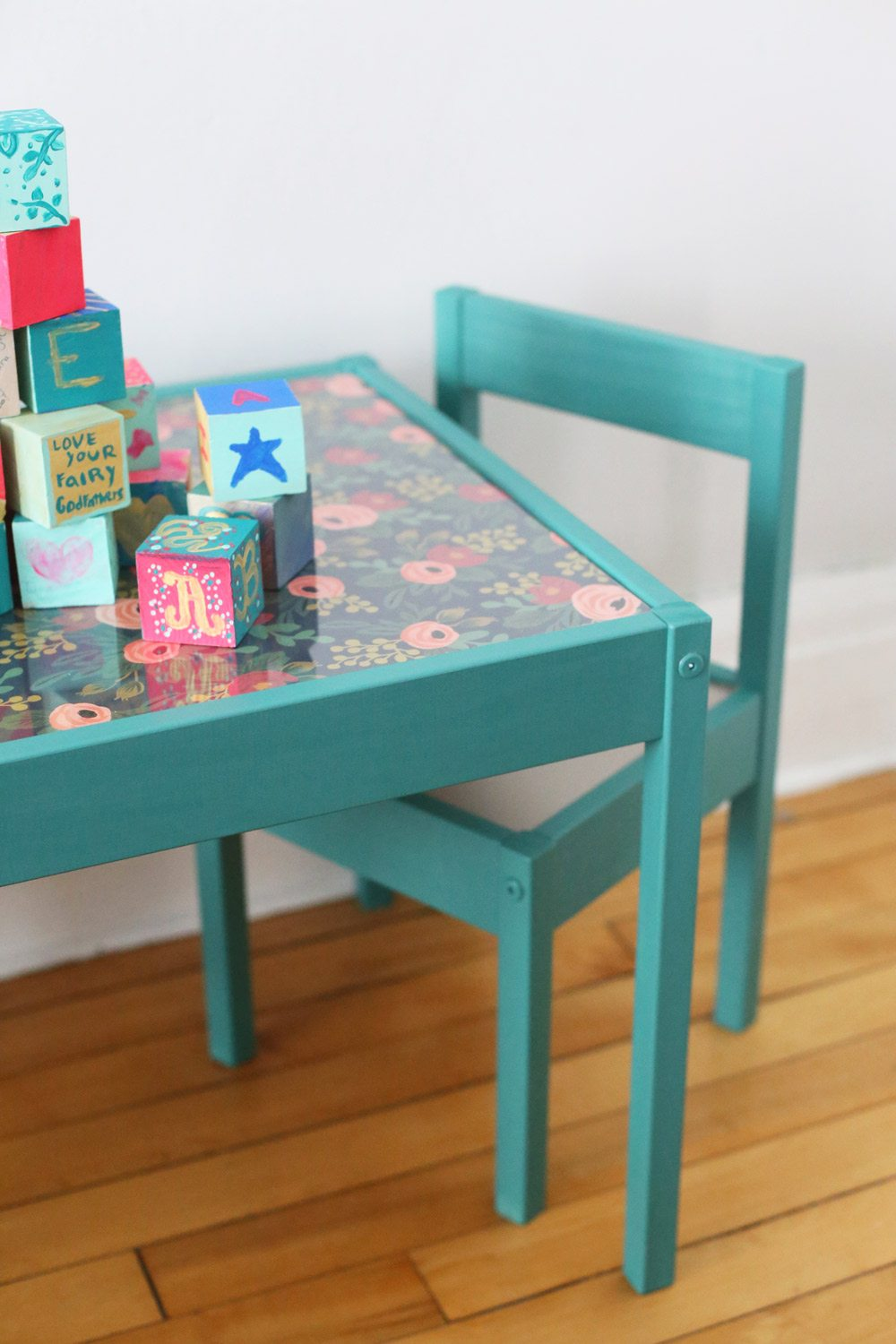 Diy Kids Table Makeover The Sweetest Occasion