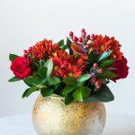DIY Gold Confetti Glitter Vase