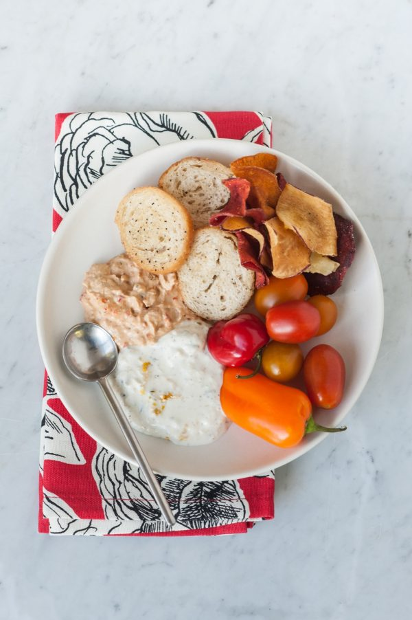 An Easy Holiday Party Dip Station by @cydconverse