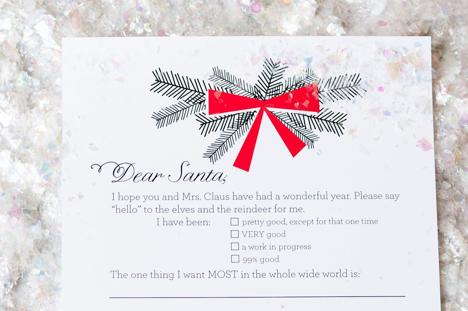 Dear Santa Christmas Wish List Printables The Sweetest Occasion – Printable Christmas Wish List Template