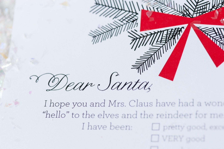 photo relating to Santa Christmas List Printable named Expensive Santa Xmas Motivation Record Printables - The Sweetest