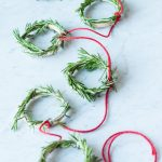 DIY Mini Rosemary Wreath Garland