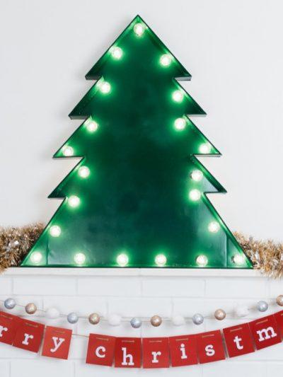 DIY Marquee Christmas Tree thumbnail