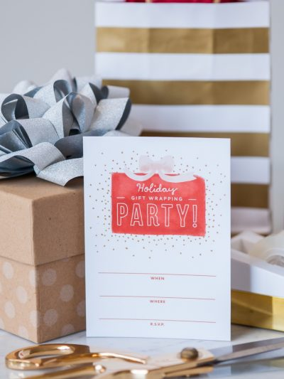 Gift Wrapping Party Printables thumbnail