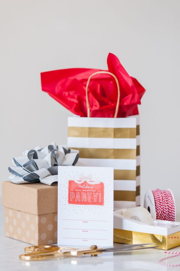 Gift Wrapping Party Printables by @cydconverse