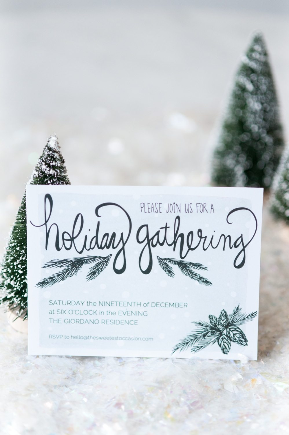 It's just a picture of Adaptable Printable Holiday Invites