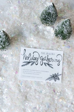Printable Holiday Party Invitations from @cydconverse