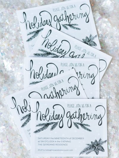 Printable Holiday Party Invitations thumbnail