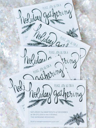 Printable Holiday Party Invitations thumbnail