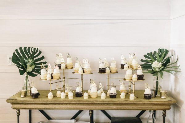 Elegant Baby Shower Cupcake Station