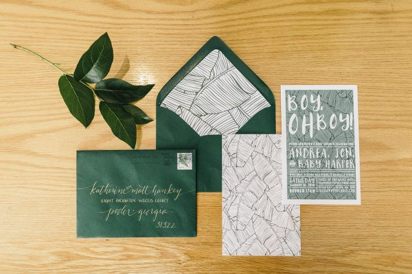 Botanical Baby Boy Shower Invitations via @cydconverse