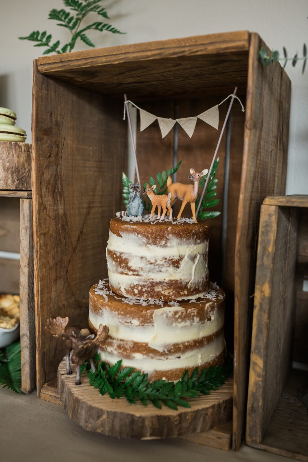 Rustic Country Baby Shower Cake