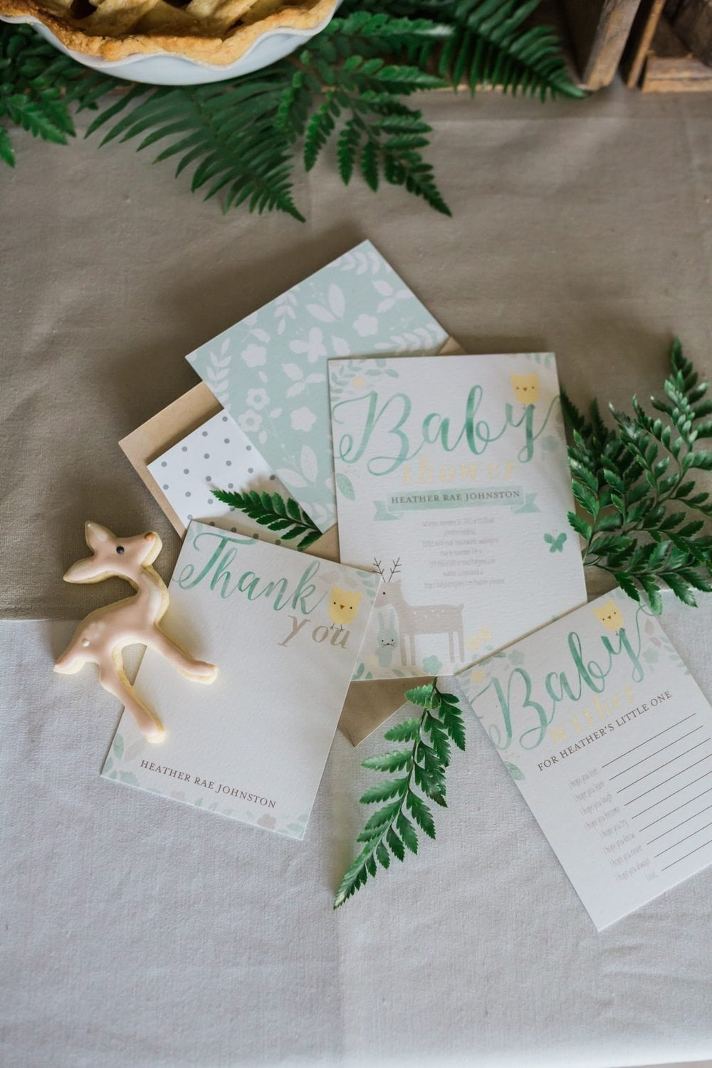 Woodland Themed Baby Shower | Baby shower themes, party ideas and more from entertaining blog @cydconverse