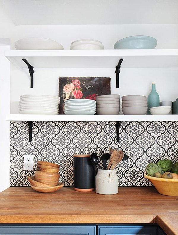 Loving patterned cement tile the sweetest occasion for Cement tile backsplash