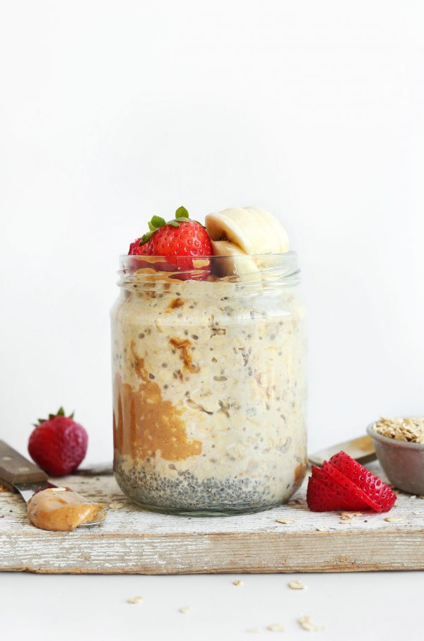 Peanut Butter Overnight Oats | Healthy Breakfast Recipes from @cydconverse