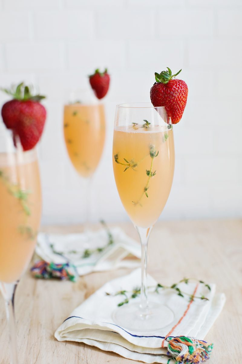 Strawberry Grapefruit Mimosa | Mimosa recipes + Easter brunch ideas ...