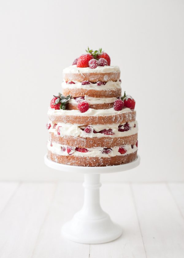 Naked Strawberry Raspberry Shortcake | 15 Gorgeous Easter Cakes from @cydconverse