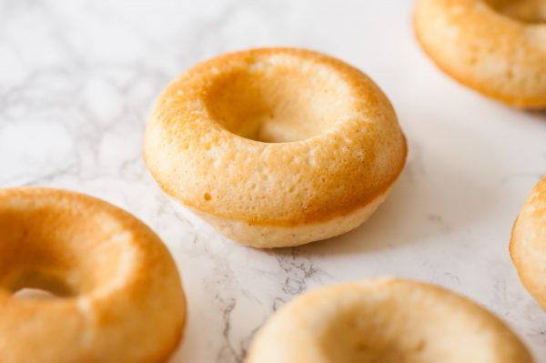 Vanilla Bean Cake Donuts with Blueberry Glaze   Donut Recipe from @cydconverse