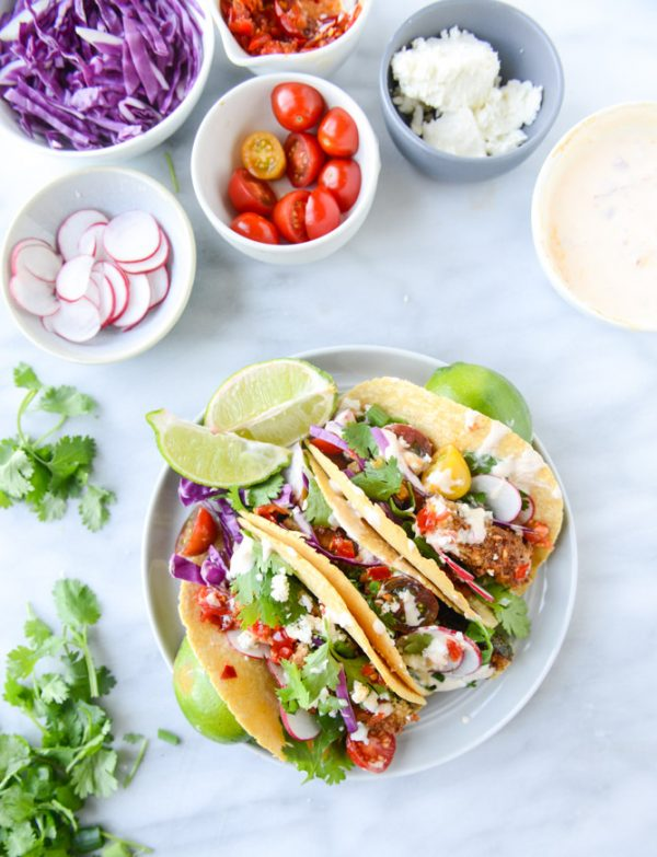 Crispy Zucchini Tacos Recipe | Get your fix of taco recipes and the ultimate classic margarita recipe and loads of Cinco de Mayo party ideas at The Sweetest Occasion! Click to check it out or repin to save for later!