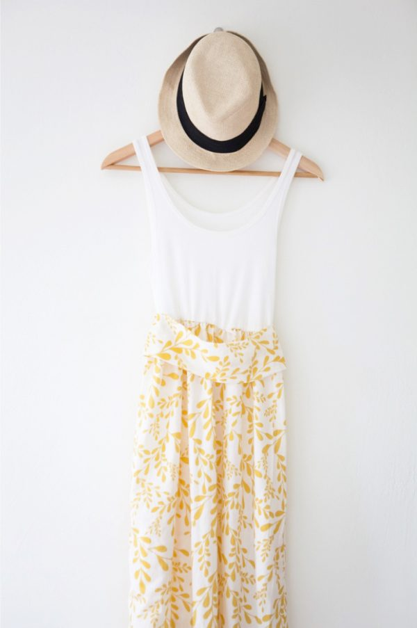 DIY Tank Top Maxi Dress   Homemade Mother's Day Gift Ideas and DIY Gift Ideas from @cydconverse