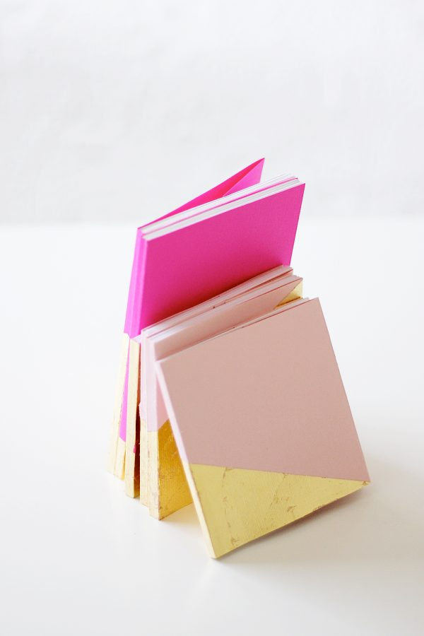 DIY Gold Leaf Notebooks | Homemade Mother's Day Gift Ideas and DIY Gift Ideas from @cydconverse