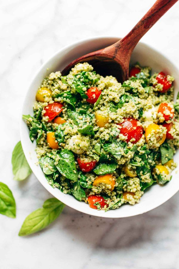 Green Goddess Quinoa Summer Salad | Best summer salad recipes for dinner from @cydconverse