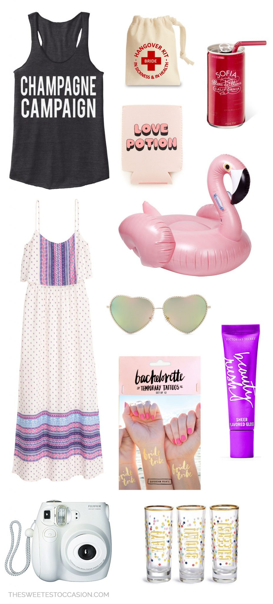 Bachelorette Weekend Essentials | Bachelorette party ideas and travel essentials from @cydconverse