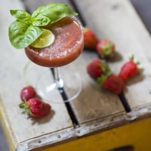 Strawberry Balsamic Margarita with Black Pepper Shortcake thumbnail