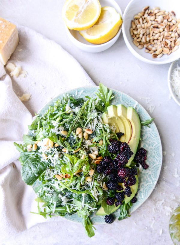 Kale Arugula Reggiano Salad | Best summer salad recipes for dinner from @cydconverse