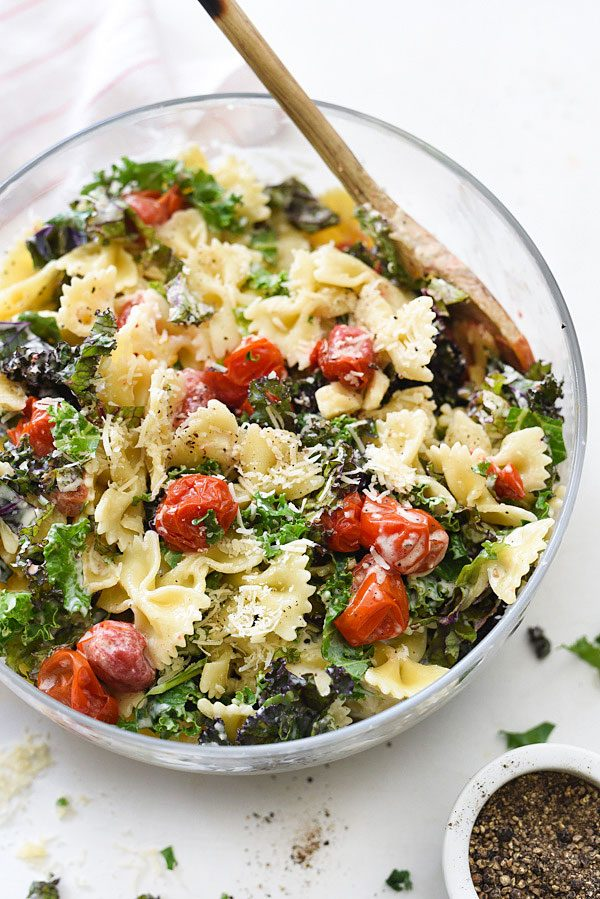 Kale Caesar Pasta Salad | Best summer salad recipes for dinner from @ ...