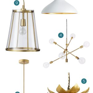 9 Awesome Brass Light Fixtures Under $350 thumbnail