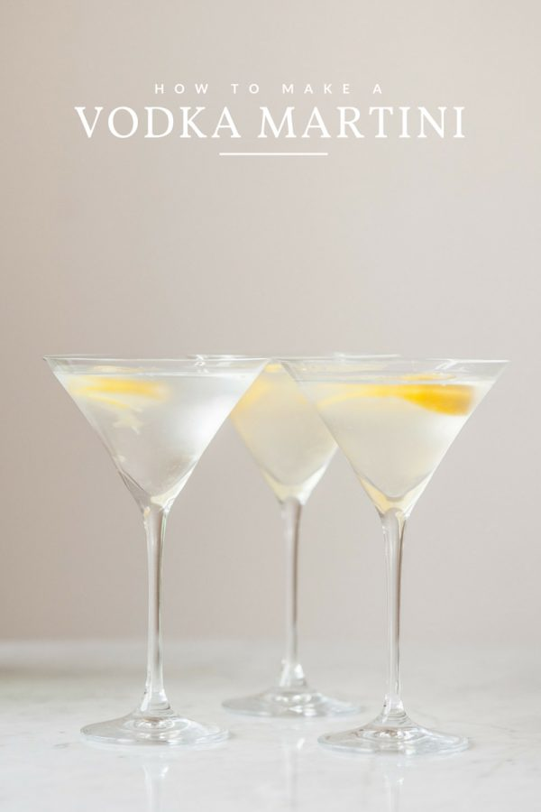 How to Make a Vodka Martini with a Twist | Cocktail recipes, entertaining ideas and party ideas from @cydconverse