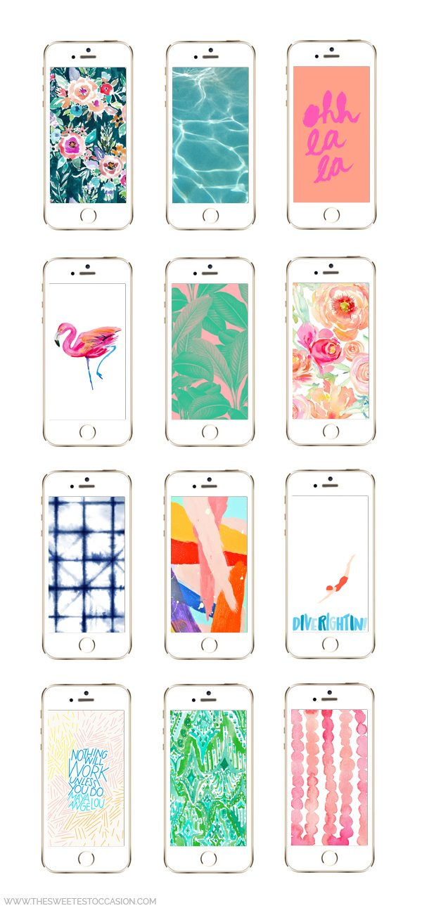 12 More Awesome Iphone Wallpaper Designs For Summer The Sweetest