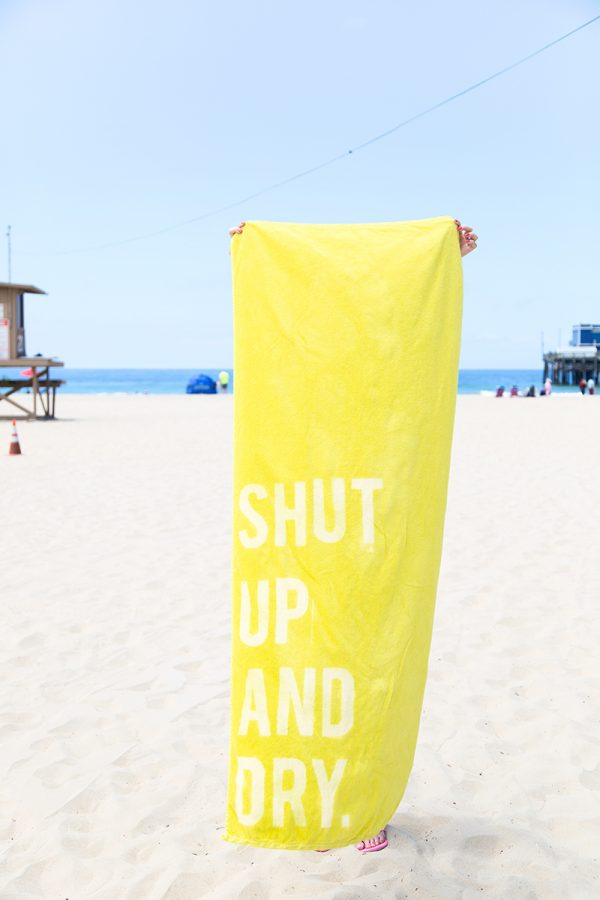 DIY Beach Towels | DIY ideas for summer beach days and other fun summer ideas from @cydconverse