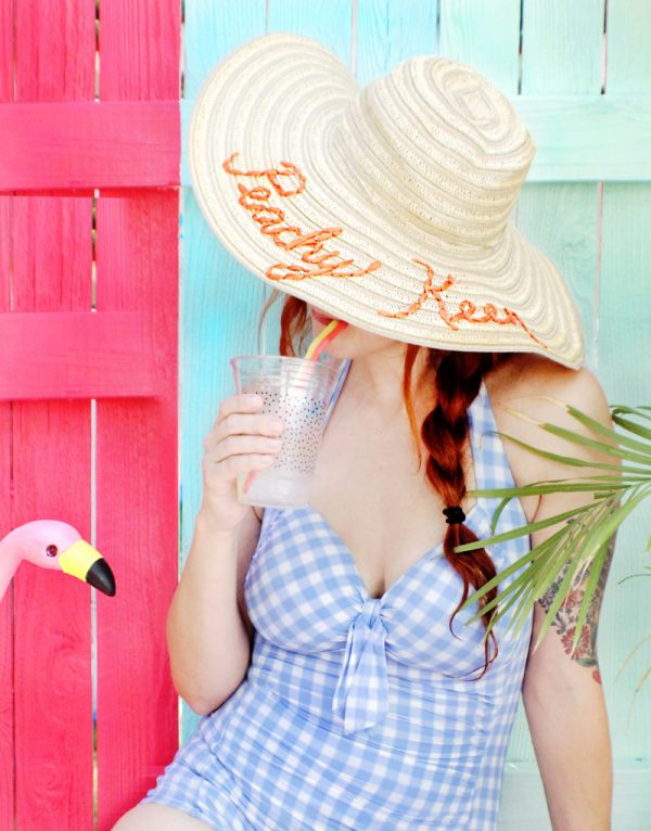 DIY Sun Hat | DIY ideas for summer beach days and other fun summer ideas from @cydconverse