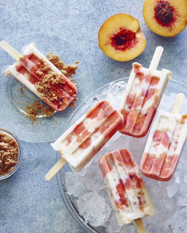 Peach and Cream Popsicles | Best Summer Peach Recipes and Summer Entertaining Ideas from @cydconverse