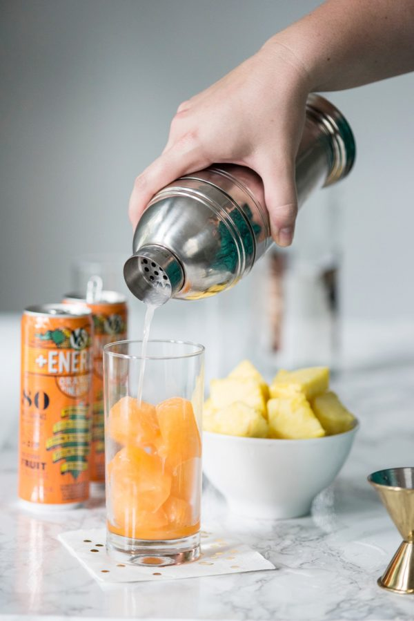 Tasty Tropical Summer Cocktails from @cydconverse | Made with amazing @v8juices - real veggies for real people!