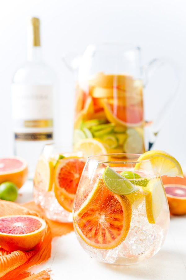 Citrus Sangria | 15 Sangria Recipes for Late Summer and Fall | Cocktail recipes, entertaining tips and party ideas from @cydconverse