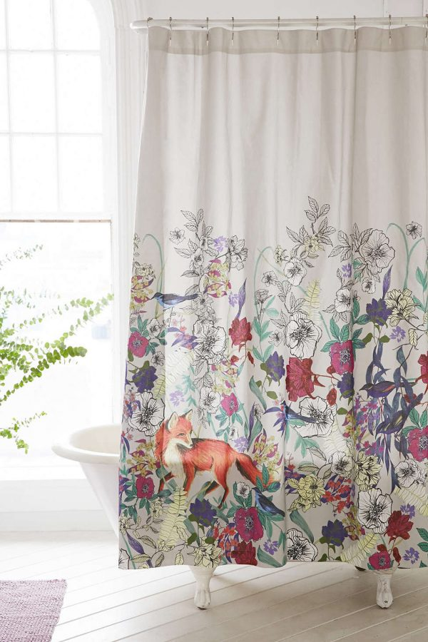 Forest Critters Shower Curtain | Pretty shower curtains and more home decor ideas from @cydconverse