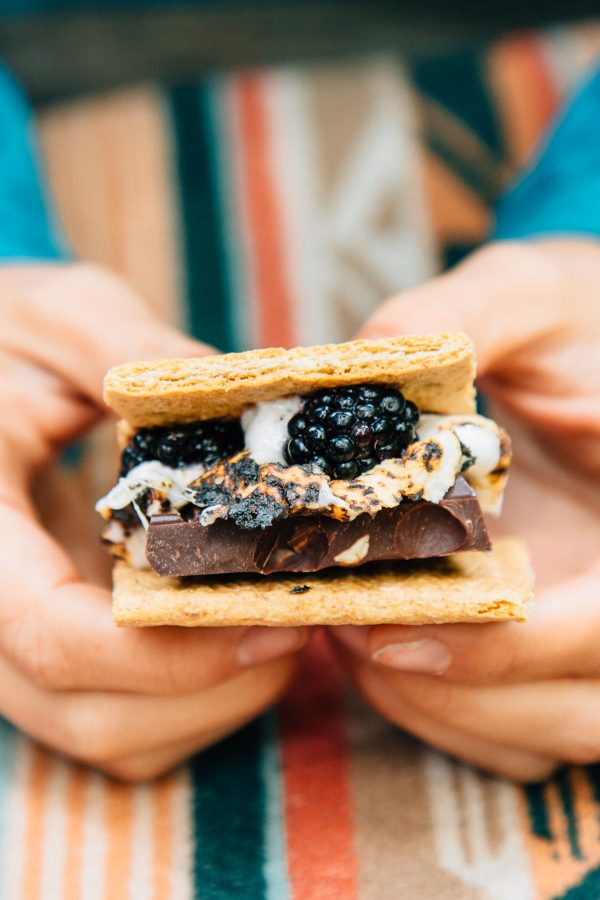 Hazelnut Berry S'mores | 12 Delicious Camping Recipes from @cydconverse plus camping tips and a camping packing list!